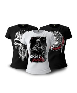 Kit 03 Camisetas Baby Look Feminina GUFZ6 Paratus