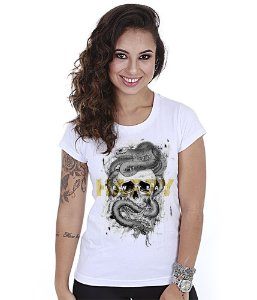 Camiseta Baby Look Feminina Happy New Year Liberty Or Death