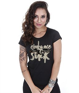 Camiseta Militar Baby Look Feminina GUFZ6 Embrace The Suck