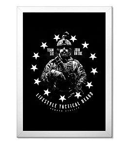 Poster Militar Concept com Moldura Lifestyle Tactical Beard