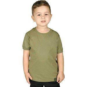 Camiseta Militar Soldier Infantil Verde Claro Bélica