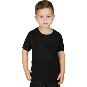 Camiseta Militar Soldier Infantil Preta Bélica