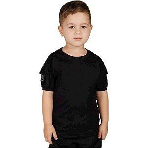 Camiseta Militar T Shirt Ranger Infantil Preta Bélica