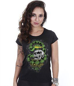 Camiseta Militar Baby Look Feminina Squad T6 Camacho Ponto Cinquenta Team Six Collection