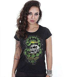 Camiseta Militar Baby Look Feminina Squad T6 Camacho Ponto Cinquenta Team Six Collection