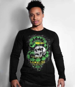 Camiseta Militar Manga Longa Squad T6 Camacho Ponto Cinquenta Team Six Collection