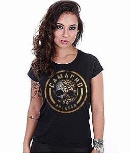 Camiseta Militar Baby Look Feminina Squad T6 Camacho Artesão Skull Ammunition