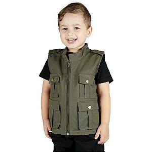 Colete Infantil Army Verde Oliva Treme Terra