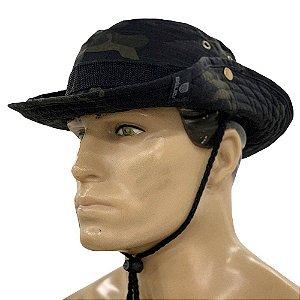 Chapéu Tático Boonie Hat Multicam Black Bélica