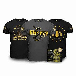 Kit Liberty Phoenix Master Tático - 3 Camisetas Militares + Kimera