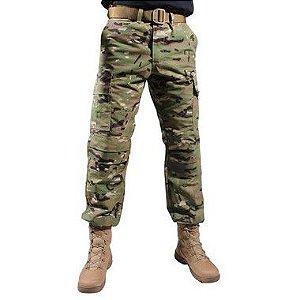 Calça Masculina Combat Camuflada Multicam Bélica