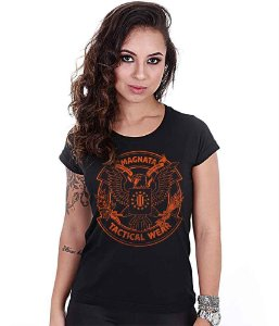 Camiseta Baby Look Feminina Squad T6 Magnata Tactical Wear