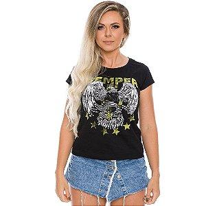 Camiseta Baby Look Feminina Squad T6 Magnata Semper Fidelis