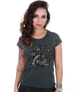 Camiseta Baby Look Feminina Squad T6 Magnata Join Or Die Three Percent