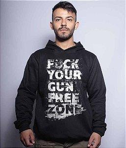 Casaco Militar Com Capuz Squad T6 Magnata 556 Fuck Your Gun Free Zone