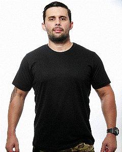 Camiseta Básica Lisa Team Six Preta Tático Militar 100% Algodão