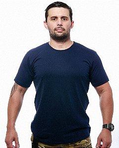 Camiseta Básica Lisa Team Six Azul Tático Militar 100% Algodão