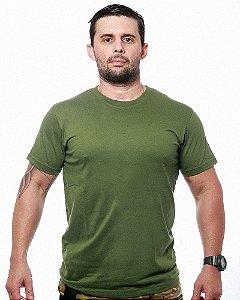Camiseta Básica Lisa Team Six Verde Tático Militar 100% Algodão