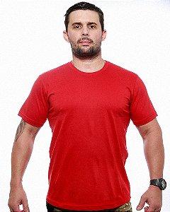 Camiseta Básica Lisa Team Six Vermelha Tático Militar 100% Algodão