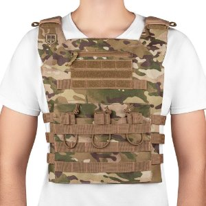 Colete Plate Carrier Couraça Multicam Invictus
