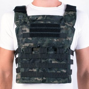 Colete Plate Carrier Couraça Multicam Black Invictus