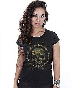 Camiseta Militar Baby Look Feminina Ciclo Ooda Multicam Team Six