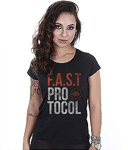 Camiseta Militar Baby Look Feminina Fast Protocol Team Six