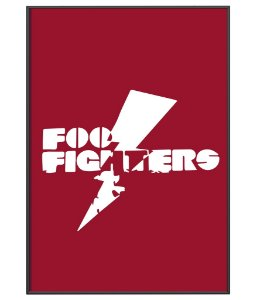 Poster da Banda Foo Fighters