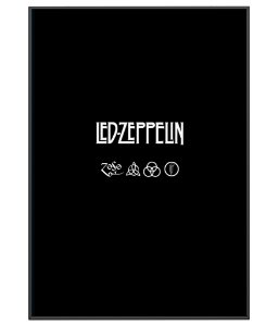 Poster Minimalista Da Banda Led Zeppelin