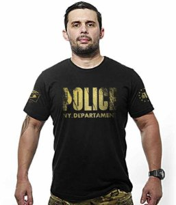 Camiseta Militar Police NYPD Gold Line