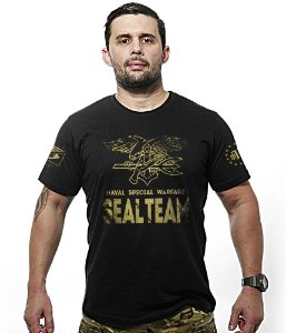 Camiseta Seal Team Naval Special Warfare Gold Line