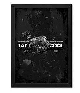 Poster com Moldura Tactical Fritz Vintage Tacticool