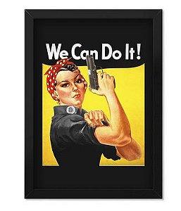 Poster com Moldura Tactical Fritz We Can Do It