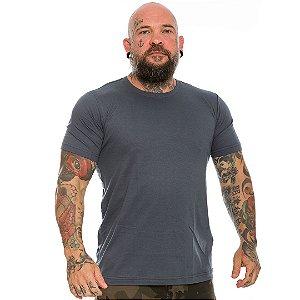 Camiseta Básica Lisa Team Six Cinza Tático Militar 100% Algodão