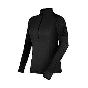 Camisa de Combate Feminina Courage 2.0 All Black Invictus