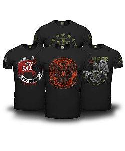 Kit 4 Camisetas Tactical Freedom Magnata 556