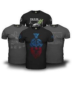 Kit 4 Camisetas Come And Take It Magnata 556