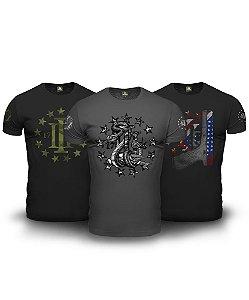 Kit 03 Camisetas Magnata Three Percent