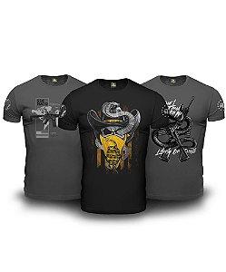 Kit 03 Camisetas Magnata Don't Tread On Me