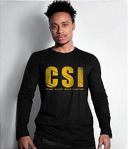 Camiseta Gola Manga Longa CSI
