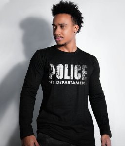 Camiseta Manga longa Police NY Department