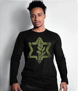 Camiseta Manga Longa Israel Defense