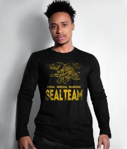 Camiseta Manga Longa Seal Team Navy Seal