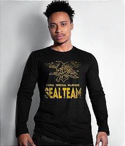 Camiseta Manga Longa Seal Team Navy Seal