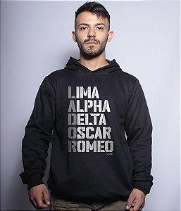 Casaco Militar com Capuz Lador Lima Alpha Delta Oscar Romeo Team Six