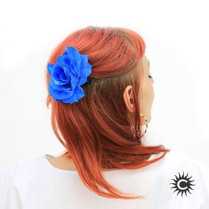 Rosa para Cabelo - Azul - Pomba-Gira, Cigana ou Malandra