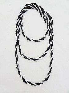 Guia - De Miçanguinha Preto e Branco 3 Fios