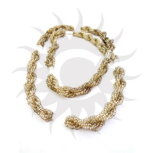 Brajá - 6 Fios - Transparente - Dourado