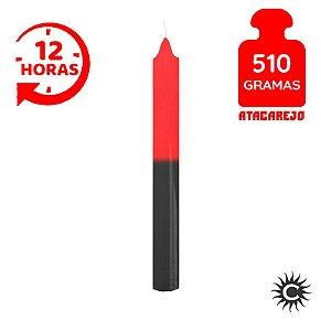 Vela - 12 horas - 510G - Vermelha e Preta