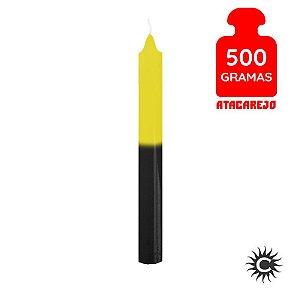 Vela - Palito - 500G - Amarelo e Preta